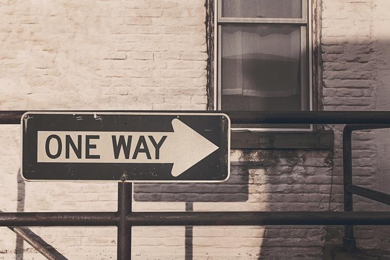 One Way Road Street Sign