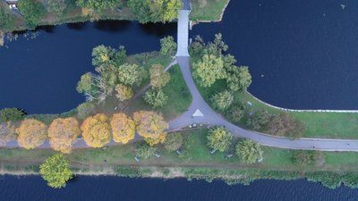 Overhead View of Waterside Path