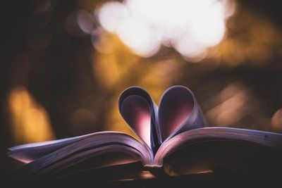 Pages Of A Book Curled Into A Heart Shape