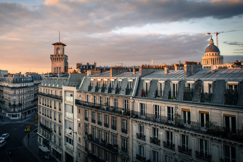 Paris Rooftops Evening