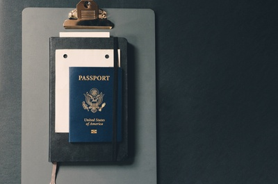 Passport on Clipboard