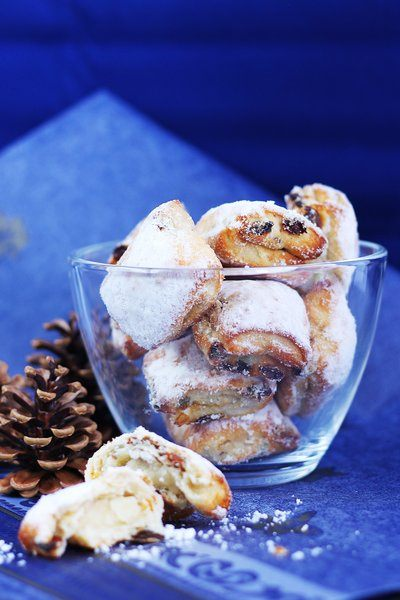 Pastries Powdered With Confectioners Sugar