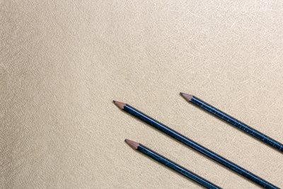 Pencils On Desk