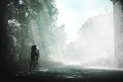 Person Riding on Bicycle