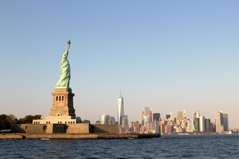 Person Taking  Statue of Liberty