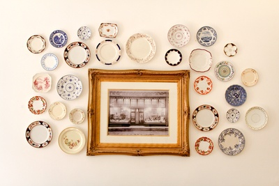 Photo Frame Near Assorted-Color Ceramic Dishes