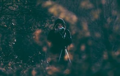 Photographer in Forest Man