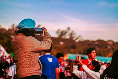 Photographing the National Youth Meeting
