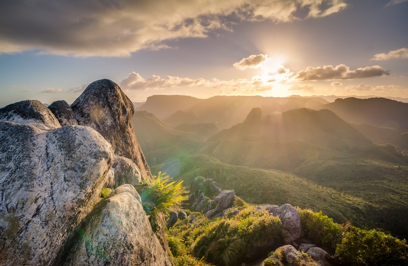 Photography of Mountain at Sunset
