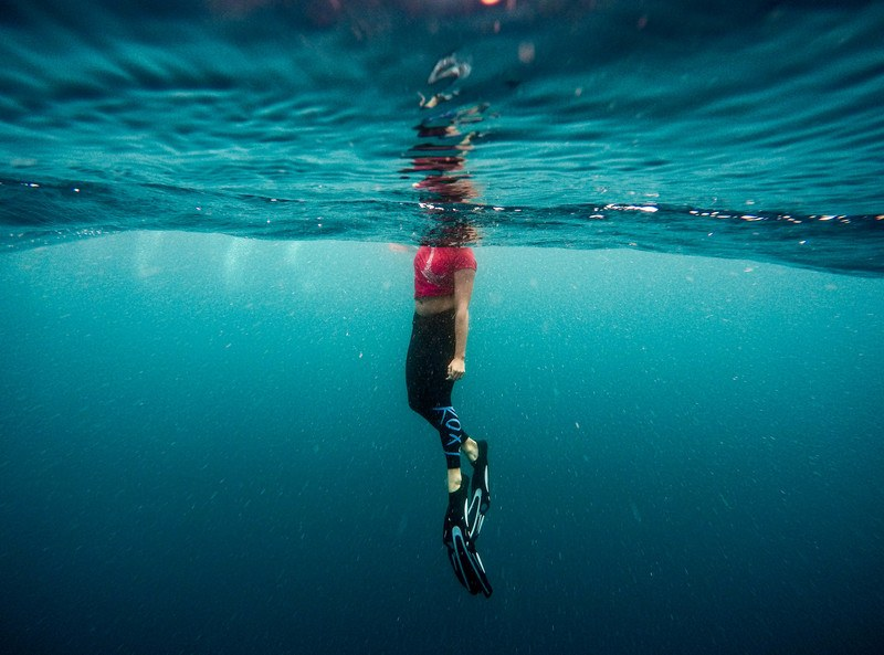 Photography of Person Under Water