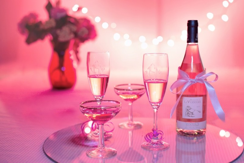 Pink Wine Champagne Drinks