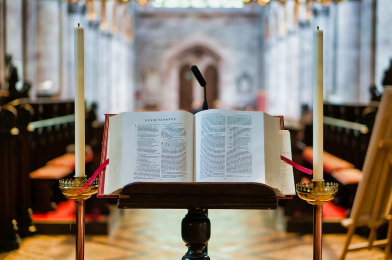 Place to read in the church