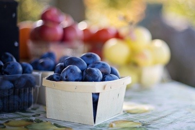 Plums at Market