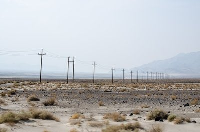 Power Lines Scattered Across The Horizon