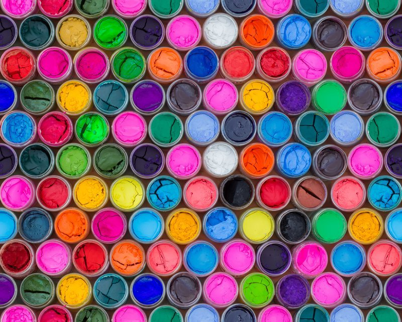 Rainbow Of Paint Colors
