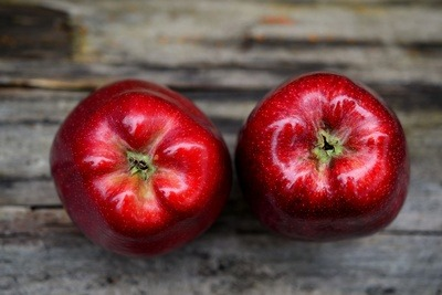 Red Apples on Wood