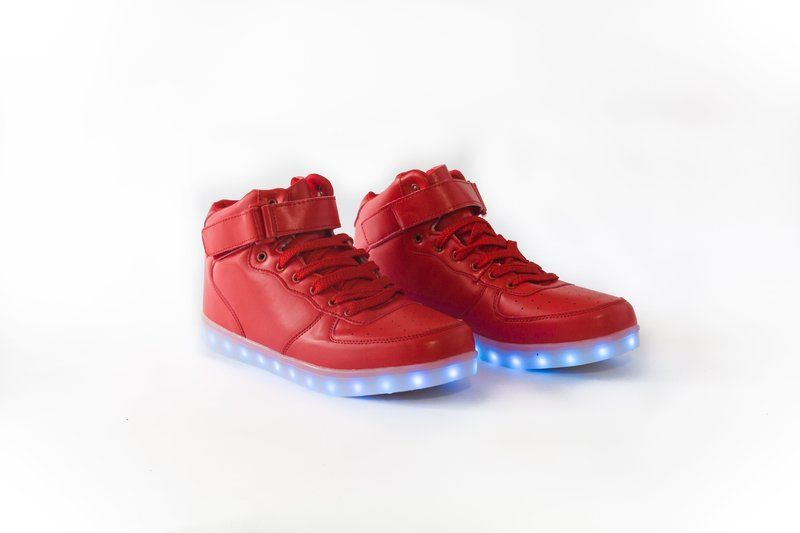 Red LED High Top Sneakers
