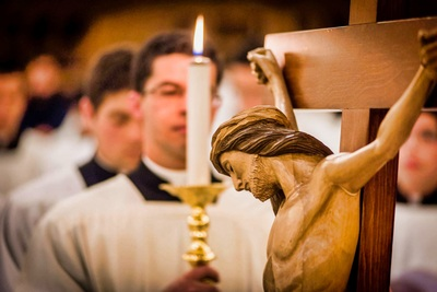 Religious living Holy Week