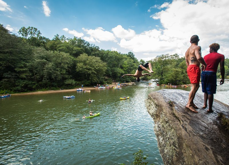 River Party Rock Jumping