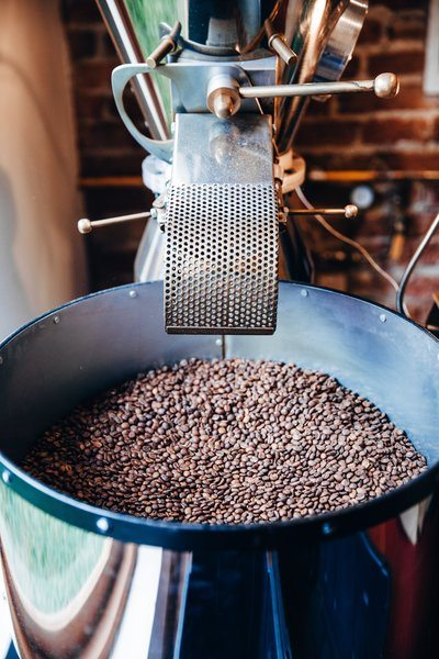 Roaster At Local Coffee Business