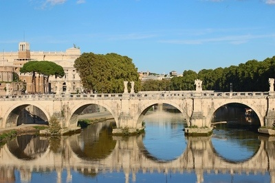 Rome Bridge River Tiber
