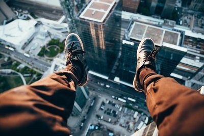 Rooftopper Looking Down
