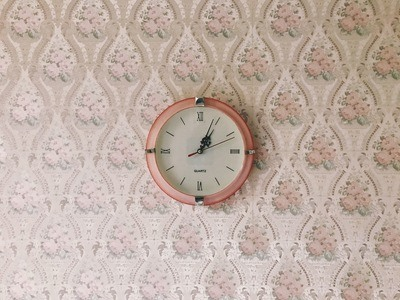 Round Brown Wall Clock
