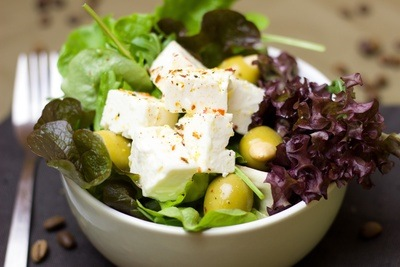 Salad Bowl with Feta Cheese