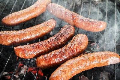 Sausage On Grill BBQ