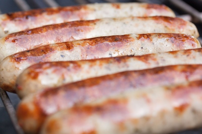 Sausages Grilling on Barbecue