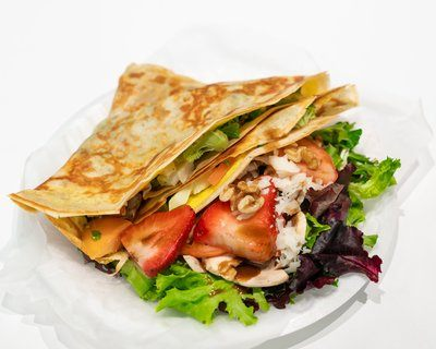 Savory Crepe With Salad