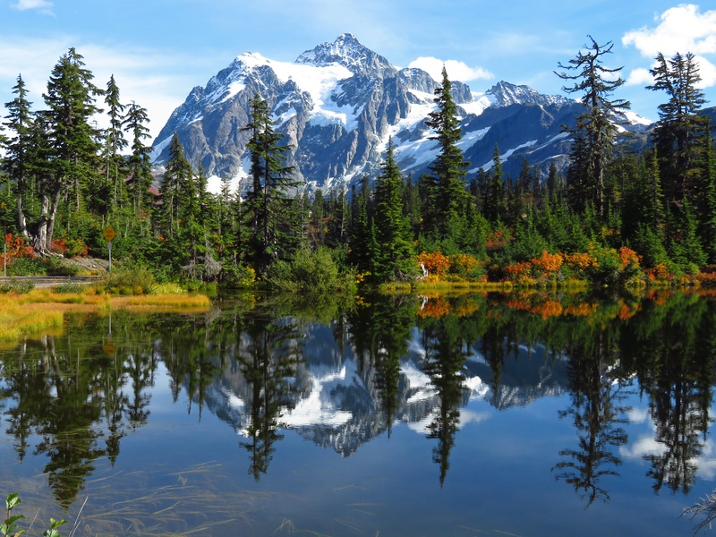 Scenic Mountain Reflection
