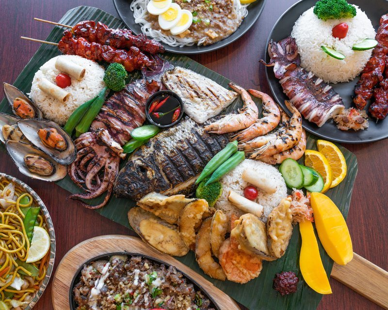 Seafood Feast At Restaurant