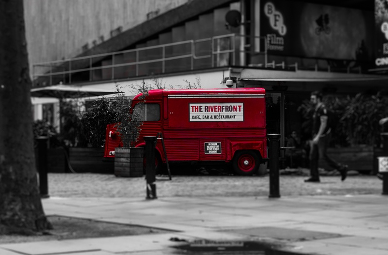 Selective Color  Red Van