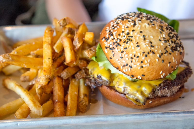 Selective Focus  Burger And Fries