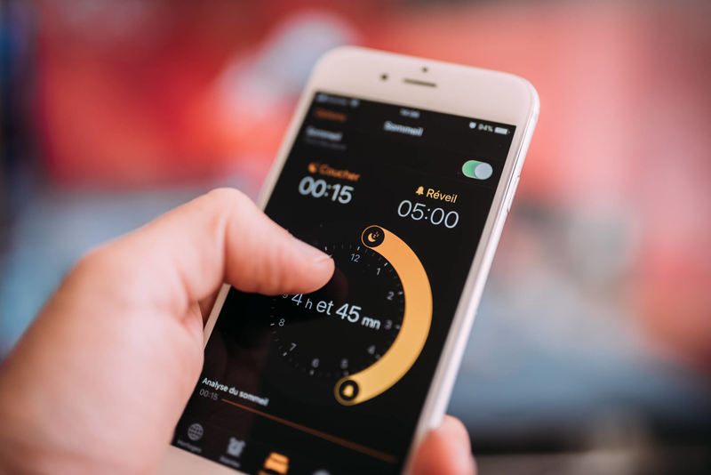 Setting the Alarm on Mobile