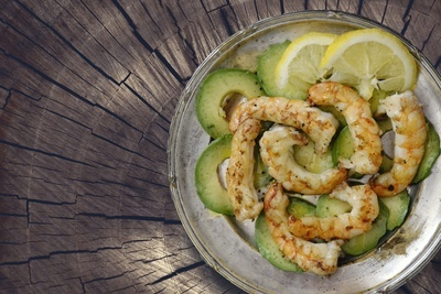 Shrimps & Avocado