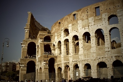 Side View Colosseum Rome