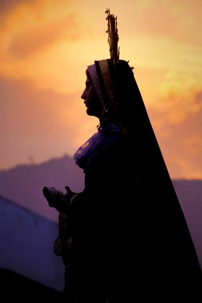 Silhouette of the Sorrowful Mother