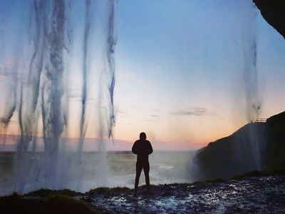 Silhouette on Man Standing Near Water