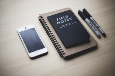 Argent Iphone 5S Near Field Notes Book
