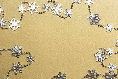 Silver and Gold Snowflakes