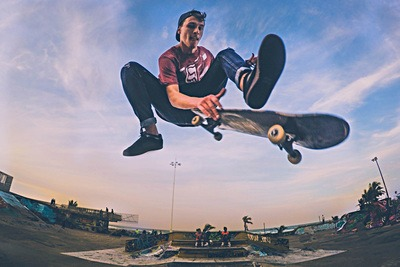 Skateboarder in Air