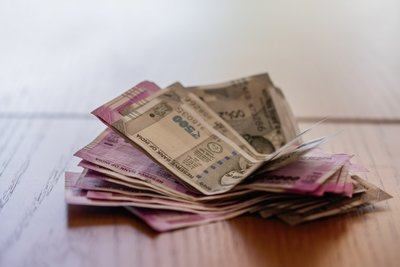 Small Stack of Indian Rupee Currency