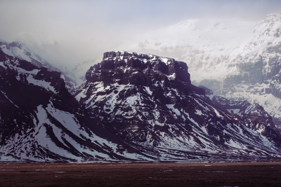 Snow-Covered Fault Block Mountains