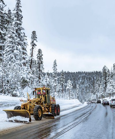 Chasse-neige sur Forest Road
