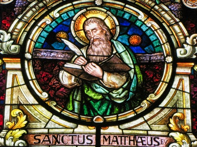 Stained glass of San Mateo