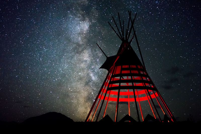 Starry Night In The Tipi