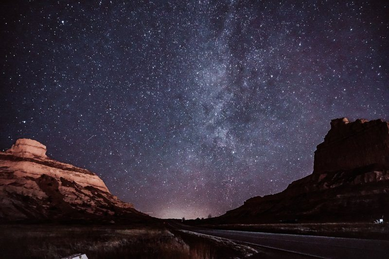 Starry Skies In The Dessert Canyons