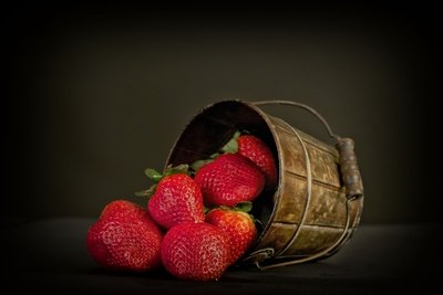Strawberries Bucket